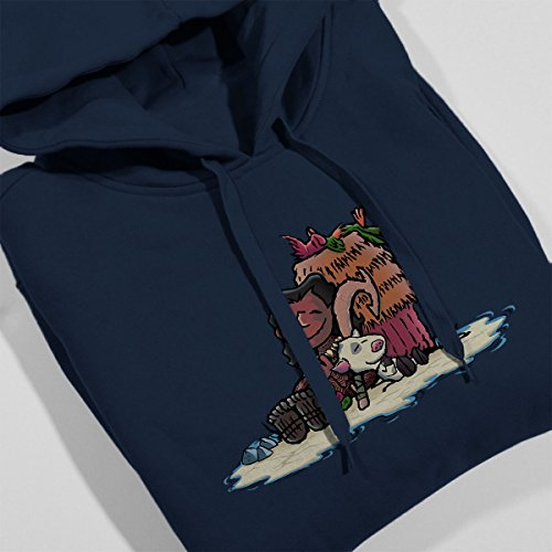 Maui Brown And Friends Peanuts Women's Hooded Sweatshirt Navy Blue