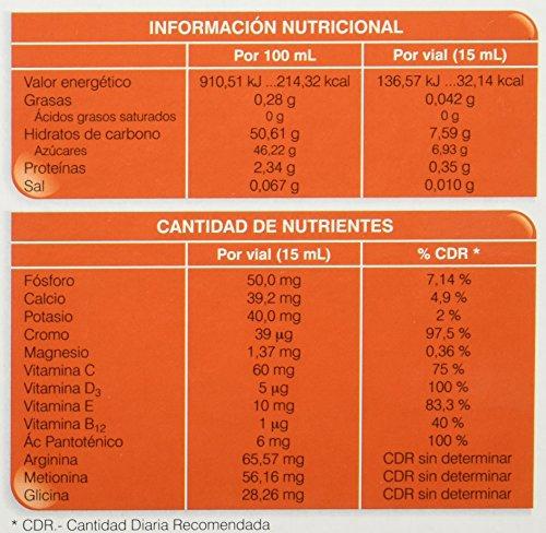 Soria Natural - FOST PRINT PLUS - MANDARINA - Complemento energético - Mejora el rendimiento físico e intelectual - 20 viales 15ml - Jalea Real y Ginseng