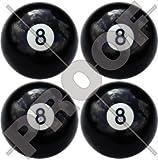 ACHT BALL 8 Billard POOL Snooker 50mm Rundschreiben, Auto & Motorrad Aufkleber, x4 Vinyl Stickers
