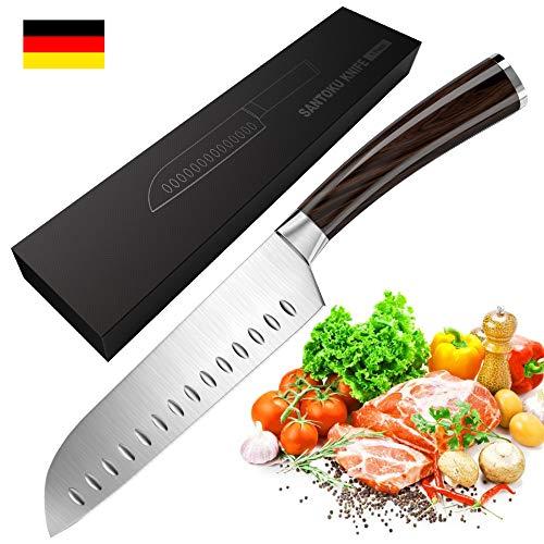 Coltello da cucina, massway coltello da cucina tedesco in acciaio da 18cm con impugnatura ergonomica, coltello da chef, coltello da carne, coltello multiuso
