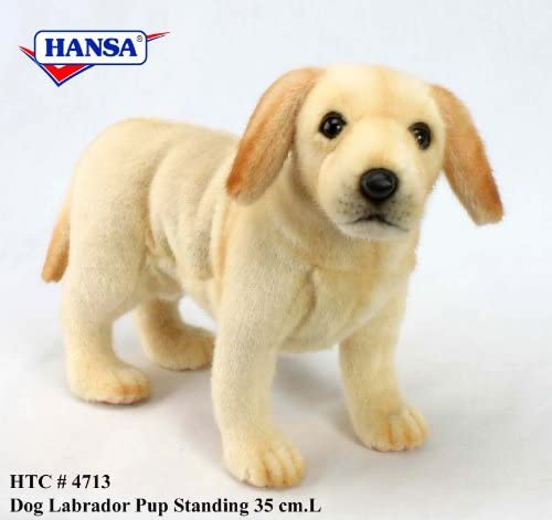 Hansa 'Yellow Lab Puppy Standing Plush Toy 14 l l l B004BE629Y 183afc