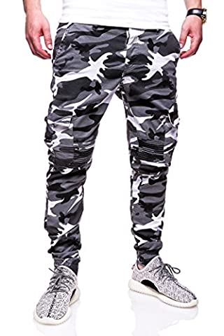 MT Styles Cargo Jogg-Jeans Camouflage Hose RJ-3225 [Grau,