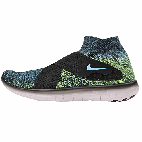 Nike Men's Free RN Motion FK 2017, Black/Chlorine Blue-Volt-Black