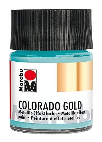 Marabu 12640005758Efecto Color, Metálico de Color Turquesa
