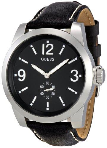 guess-w10248g1-zoom-montre-homme-quartz-analogique-cadran-argent-bracelet-cuir-noir