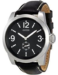 Guess Herren-Armbanduhr XL Analog Leder W10248G1