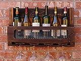 FAFZ-Champagner-Becherhalter, Weinregal Massivholz-Weinregal Hängender hängender High-End Wein-Glas-Halter Umgekehrter Wein-Anzeigen-Wein-Schalen-HalterL60 * W 12 * H 35cm Weinregale