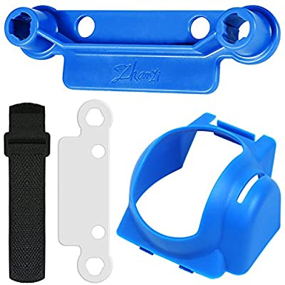 Rocker Protector and Lens Hood, AFUNTA Transport Clip Remote Control Stick Thumb Protective Cap Gimbal Protective Anti-Glare Sun Shade Drone for DJI Mavic Pro - Blue