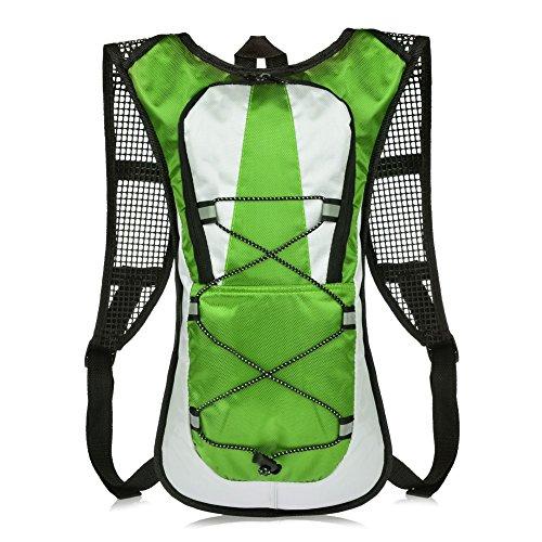 Vbiger 5L Leicht Fahrradrucksack Trinkrucksack Halter Wasserdicht Rucksack für Fahrradfahren ohne Trinksystem