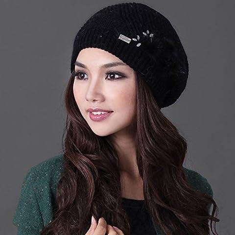 Dngy*Cappelli invernali bambini caldo a maglia lavorata a maglia di