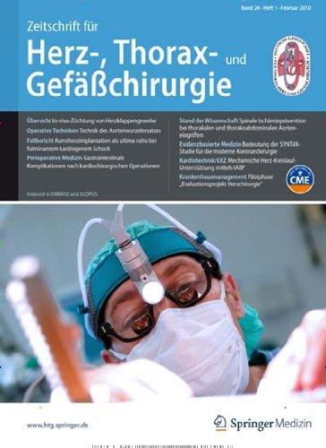 Zeitschrift für Herz-,Thorax- und Gefäßchirurgie [Jahresabo]