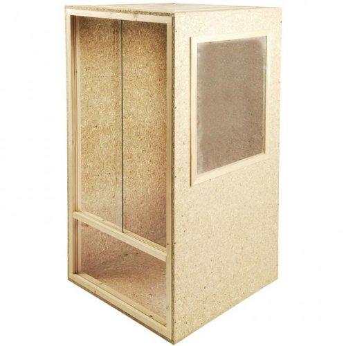 Repiterra® Hoch-Terrarium aus Holz 80cmx150cmx80cm mit Seitenbelüftung aus OSB Platten mit Floatglas