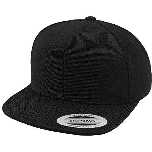 Berretto Flexfit Mesh Visor snapback, Black, taglia unica, 6089MV