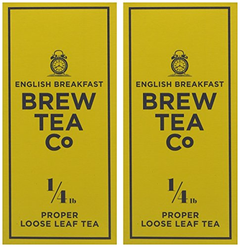 Brew Tea Co English Breakfast Proper Loose Leaf Tea 113g, Pack of 2 (226g)
