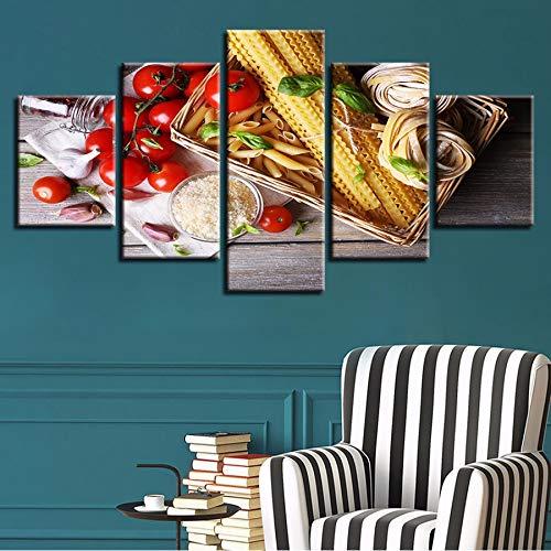 r HD Druckt Wandkunst Bild Home Decor 5 Stücke Tomate Caprese Salat Pasta Malerei Lebensmittel Poster Modular ()