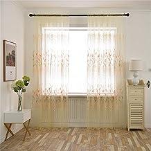 5/* 1.5/m Cortina decoraci/ón de Ventana Antipolvo para sal/ón Dormitorio Oficina Yunt Visillo