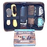 Man'stuff Shoe restore Kit - Schuhputz- Büsten Set - Schuh Lederpflege 7teilig