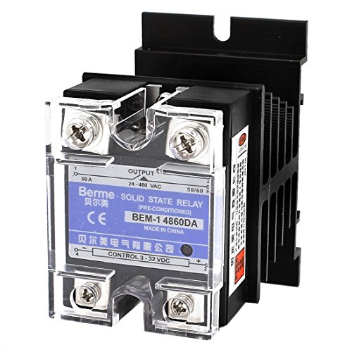 3-32V DC-AC-24-480V 60A 4-Terminal-Single Phase Solid State Relais (Single 480 Phase)