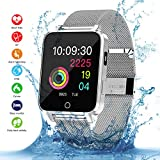 Best Relojes de pantalla táctil - Smartwatch, Kivors Bluetooth SmartWatch IP68 Impermeable Relojes Inteligentes Review