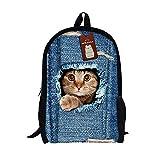 Moolecole Unisex 3D nette Katze Muster Daypack Rucksack - Best Reviews Guide