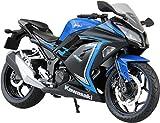 #5: Skynet 1/12 Finished Goods 2015 Kawasaki Ninja250se Bike Toy (Blue)