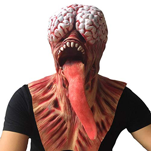 QWER Halloween Maske Latex Zombie Halloween Maske Melting Horror Kostüm Dead Scary Head Masks - Heiligen Geist Kostüm