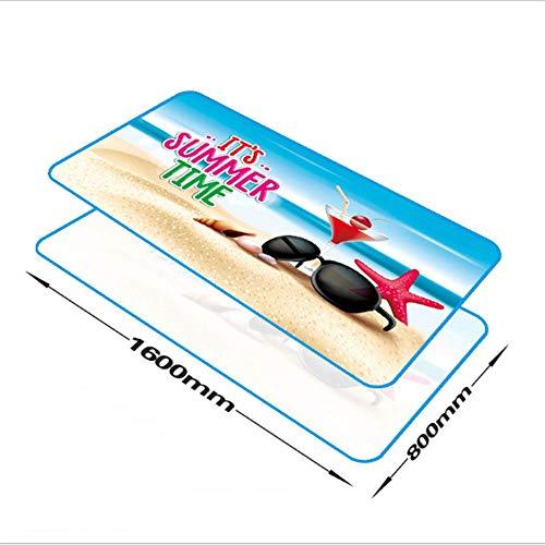 SHJIA Strand Handtuch für Erwachsene Mikrofaser Sonnencreme Decke Yoga Matte 160x80cm