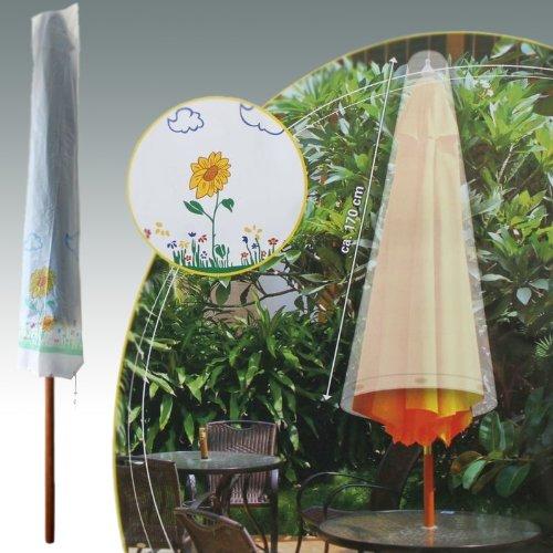 Schirmhülle 170cm Blumendekor Schutzhülle Sonnenschirm Abdeckung Hülle