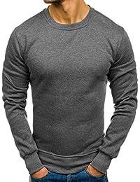 Yvelands Liquidación Moda Ropa Camisas Sudadera Casual de Color Sólido Slim  Fit Top Blusa Chándales Chándales 9cabe8b44c0c