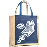 H&B Jute Bags - Multipurpose Waterproof Jute Lunch Bags | Tiffin Bag | Jute Bags For Women | Jute Bags For Lunch For Men | Jute Bags For Lunch For Women | Jute Bag With Zip | Jute Lunch Bags For Office Women | Jute Lunch Bag For Office For Men | Jute