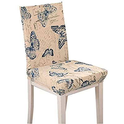 Tinksky 4pcs Chair Cover Removable Washable for Hotel Dining Room Ceremony Chair Slipcovers(Colorful) - low-cost UK light store.