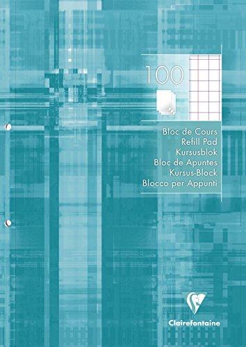 Clairefontaine 5810C A4quadratisch, 10/10und Rand 2Löcher gelocht Refill Pad (100Stück Blatt) -