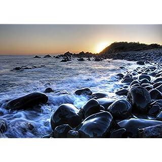 AG Design 4 Sonnenuntergang auf Dem Meer, Vlies Fototapete, 4 Teile, Multicolor, 360 x 270 cm