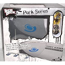 Tech Deck parque serie esquina bawl set Mini skatepark, gris, 23 cm