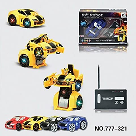 RC Transforming Car & Robot Remote/Radio Control Transformer Mode Robot and Car