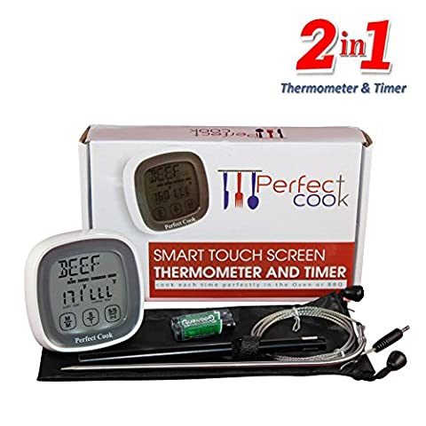 Perfect Cook- Best Digital Oven Meat Thermometer & Cooking Timer,