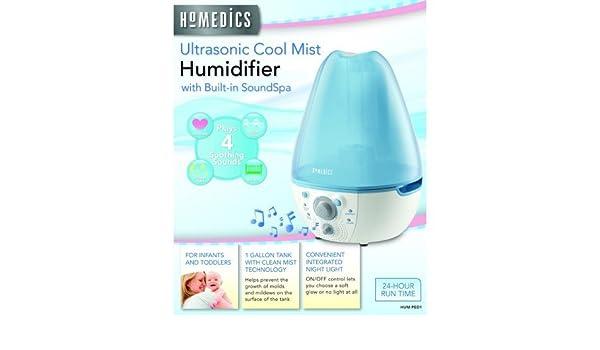 HoMedics HUMPED1 Cool Mist Ultrasonic Humidifier + SoundSpa