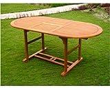 Amicasa. Gartentisch ausziehbar aus Holz 180/260x 100cm OVAL Rodi