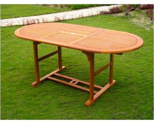 Table jardin ovale