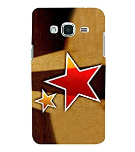 Red Star Hard Polycarbonate Designer Back Case Cover for Samsung Galaxy J3 (6) 2016 :: Samsung Galaxy J3 2016 Duos :: Samsung Galaxy J3 2016 J320F J320A J320P J3109 J320M J320Y
