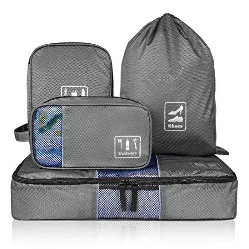 BAGSMART Packwürfel-Set universelle Kleidertaschen geniales Reise-Zubehör für Damen und Herren