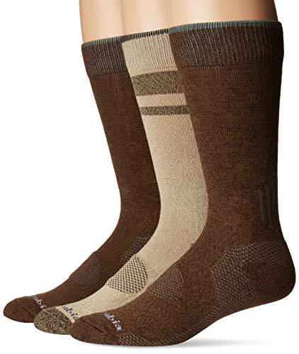 Columbia Balance Point Cotton Crew Sock 3 Pair, M10-13, Khaki/Brown - Columbia Khaki