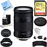 Tamron 18-400mm F/3.5-6.3 Di II VC HLD All-in-One Zoom Lens For Nikon Mount (AFB028N-700) With TAP-in Console Lens Accessory, 64GB Memory & Memory Card Reader, Card Wallet, Cleaning Kit And More