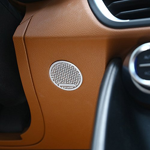 Carbon Aluminium Legierung Zubehör Vorne Lenkrad Lautsprecher Dekoration Rahmen Cover Trim Auto Aufkleber für Giulia 2017