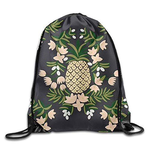 Setyserytu Sporttasche mit Kordelzug, Sportrucksack, Reiserucksack, Drawstring Backpack Gym Bag Travel Backpack, Pineapples, Ladies Backpack for Boys Girls
