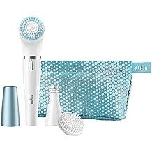 Braun Face 832-e - Set de regalo con depiladora facial y cepillo de limpieza facial, 3 accesorios