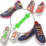Lacci Elastici per Scarpe (Standard, Verde) - Stringhe Elastiche Silicone con Design Speciale, Facili da Mettere e Allacciare - Perfetti per Bambini e Adulto