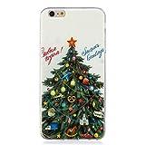 BONROY iPhone 6 Plus/6S Plus (5.5 Zoll) Hülle, Case Ultra Dünn Fein Oberfläche Handyhülle Cover Bumper Schutz Schale Design Schutzhülle-(YX- Wunsch-Weihnachtsbaum)