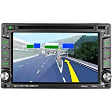 "Reproductor Multimedia para coche LESHP 6.2"" Pantalla táctil autoradio 2 din Navegador GPS Coche Win CE Bluetooth / Soporta 1080P HD Video/ Control de Volante / FM AM / DVD / USB / SD / AV-OUT"