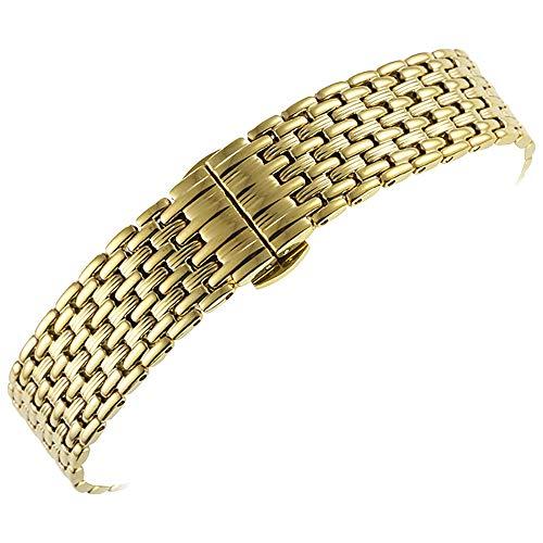 20mm Metall Uhrenarmband Gott Ersatz 20mm Edelstahl Uhrenarmbänder für Männer, Frauen gerade Enden